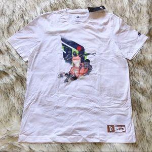 Adidas Dame Gu Volley Basketball T Shirt White